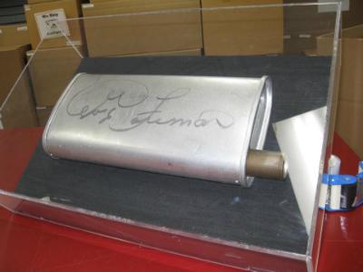 Shipped Autographed George Foreman Muffler