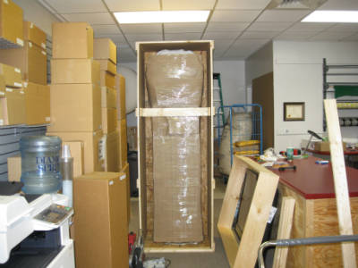 Packed and crated Grandfather Clock